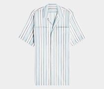 Kurzarmhemd mit Streifen aus Baumwolle
