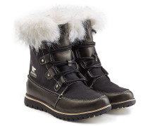 Gefütterte Boots Cozy Joan X Celebration mit Leder und Webpelz