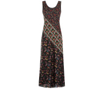 Maxi-Dress aus Seide mit Prints