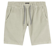 Shorts aus Baumwolle und Leinen