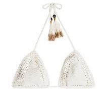 Gehäkeltes Triangel-Bikini-Top aus Baumwolle