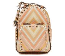 Backpack Rockstud aus Leder mit Print