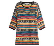 Gemusterter Oversize-Pullover mit Mohair