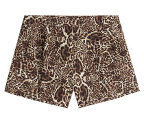 Shorts mit Animalprint
