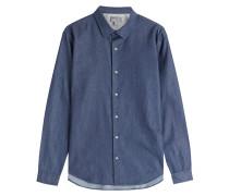 Chambray-Hemd aus Baumwolle mit Microdots