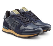 Sneakers Rockrunner aus Glattleder und Veloursleder