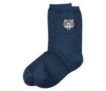 Socken mit Tiger-Stickerei