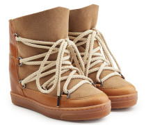 Wedge Boots Nowles aus Veloursleder