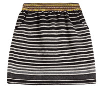 Bestickter Flared-Skirt aus Strick