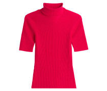 Kurzarm-Pullover mit Wolle und Rollkragen