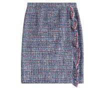 Tweed-Skirt mit Rüschen