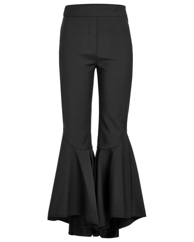 Cropped Flared Pants Sinuous mit Wolle und Volants