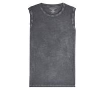Ärmelloses Shirt aus verwaschener Baumwolle