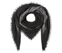 Gemusterter Schal aus Schurwolle, Kaschmir und Seide