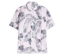 Bedrucktes Hemd aus Leinen und Baumwolle