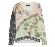 Bedruckter Pullover aus Wolle und Kaschmir