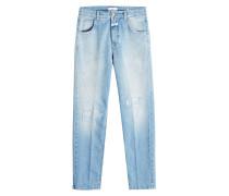 Cropped Straight Leg Jeans Heartbreaker