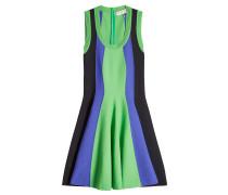 Flared Dress im Color Block Look