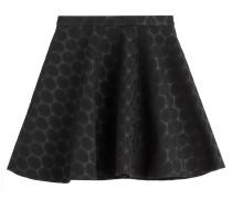 Flared-Skirt mit Polka-Dots