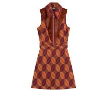 Kleid aus einem Wollgemisch mit Muster