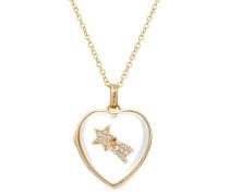 Kette Heart Locket aus 14kt Gold mit Charm und Diamanten