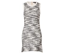 Flared-Dress in Black/White