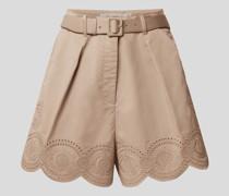 High Waist Shorts mit Gürtel