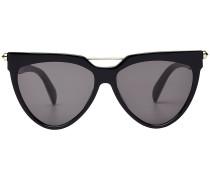 Geometrische Sonnenbrille mit Metallsteg