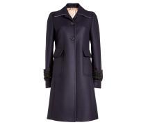 Mantel aus Wolle mit Décor