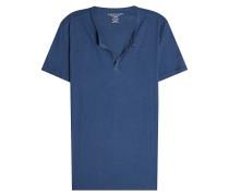 T-Shirt aus Baumwolle mit Knopfleiste