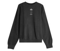 Sweatshirt aus Baumwolle mit Patch und Print