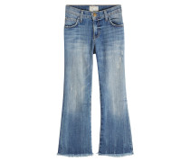 Cropped Flared Jeans aus Baumwolle