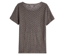 Leinen-Shirt mit Lochmuster