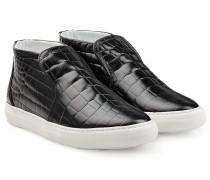 High-Top-Sneakers aus geprägtem Leder