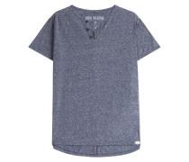 T-Shirt mit Baumwolle und Knopf-Details