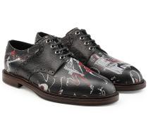 Bedruckte Schnürschuhe aus Leder