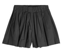 Plissierte High Waist Shorts aus Baumwolle