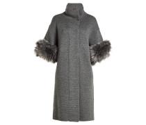 Mantel aus Merinowolle mit Webpelz