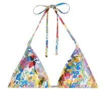 Bedrucktes Triangel-Bikini-Top