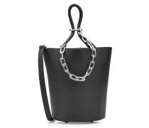 Handtasche aus Leder mit Metallkette