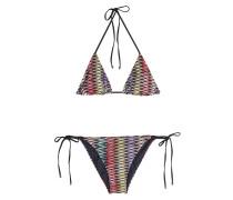 Gemusterter Triangel-Bikini