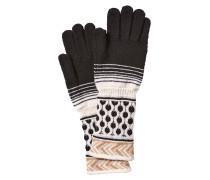 Handschuhe aus Wolle mit Webmuster