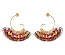 24kt vergoldete Ohrringe mit Federn