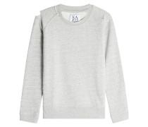 Sweatshirt aus Baumwolle im Distressed Look