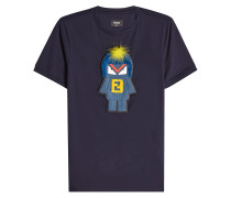 Verziertes T-Shirt Monster aus Baumwolle