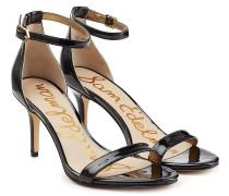 Mid-Heel-Sandalen aus Lackleder