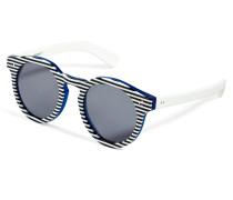 Leonard 2 Striped Sunglasses in Blue/White