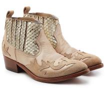 Cowboy-Boots Victory aus Leder und Veloursleder
