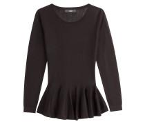 Schößchen-Pullover aus Merinowolle