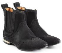 Chelsea-Boots aus Veloursleder im Western-Stil